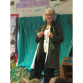We had a storyteller visit us- we were captivated!
