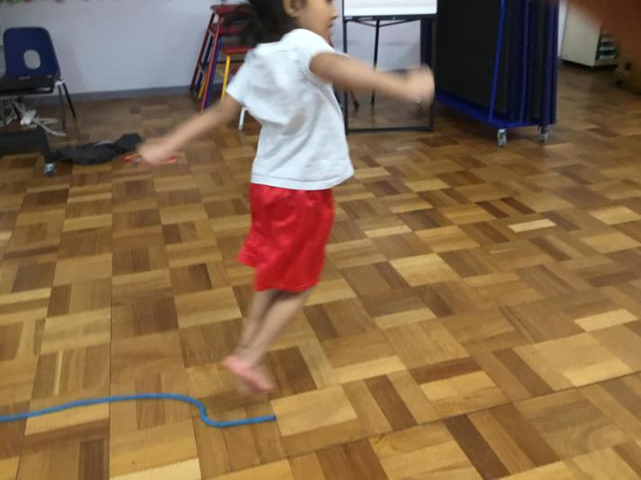 Practicing jumping and landing!