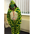 Guess who is dressed as a dinosaur ifrom Harry and the Bucketful of Dinosaurs?