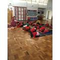 A lady came to teach us yoga.