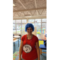 Mrs. Groves is Thing 2 from the book The Cat in the Hat!