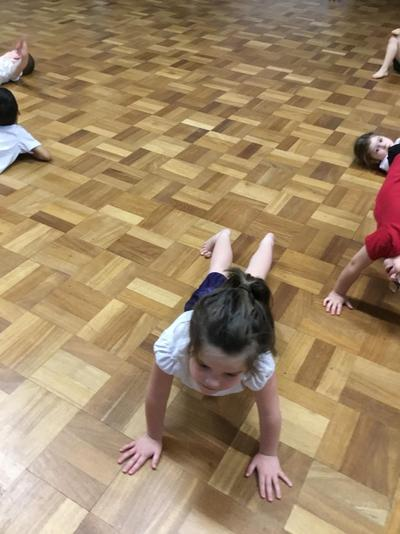 Balancing using only our points (hands and feet)