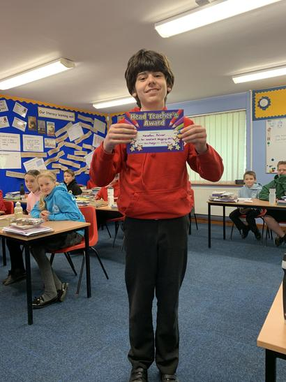 Xeno was rewarded the teachers award this week for fantastic work on blogging in computing