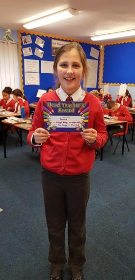 Connie was awarded teachers award.