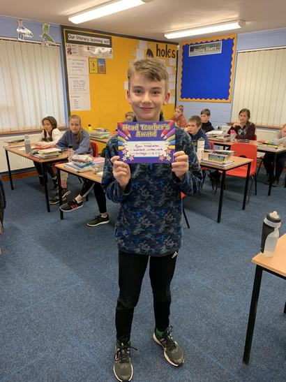Ryan you as awarded this week's certificate for fantastic writing. Well done Ryan!