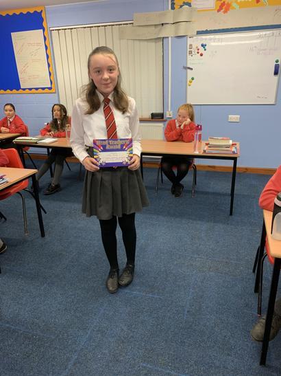 Teachers award. Well done Lilly
