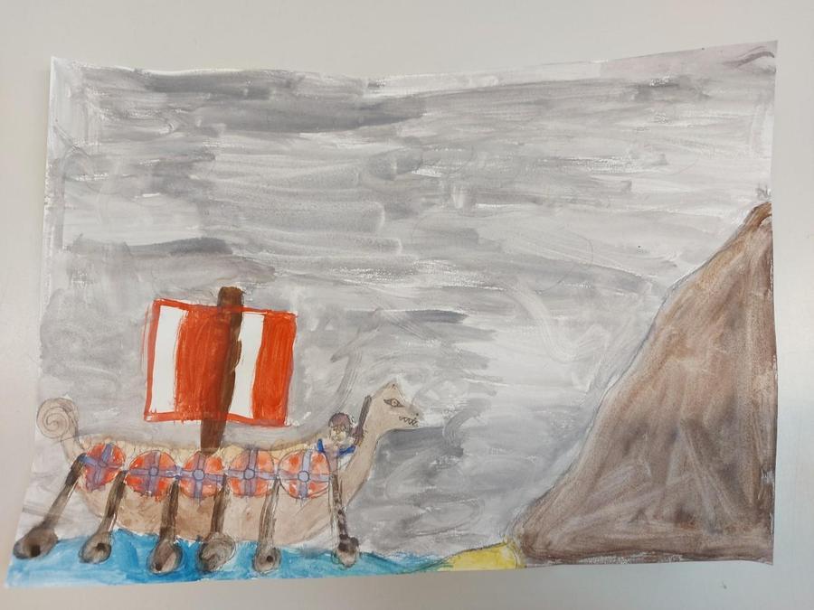Isla M's Viking Sea Scene