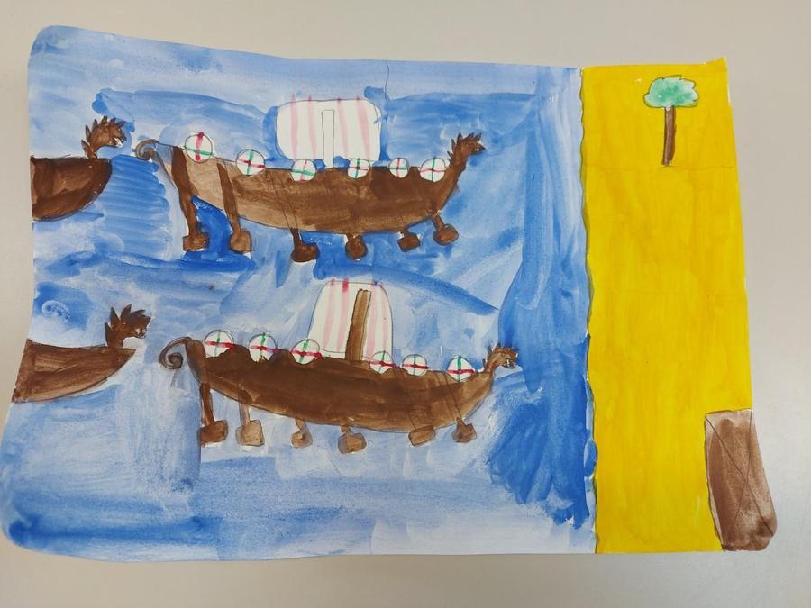 Isla A's Viking Sea Scene
