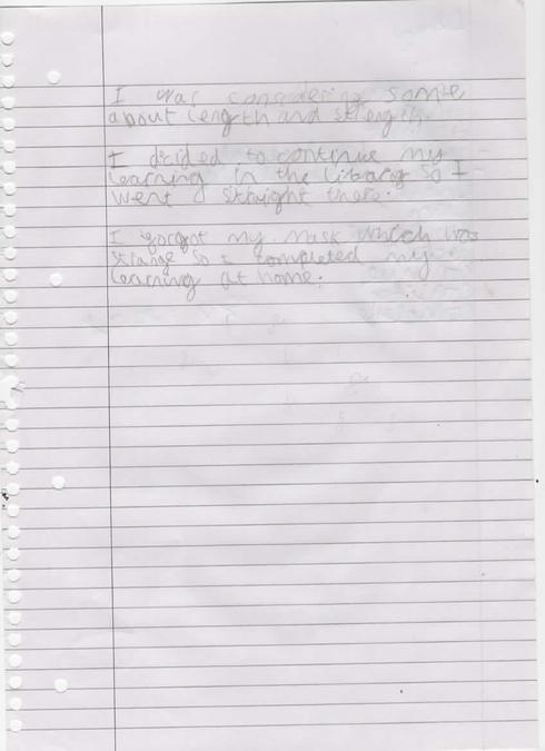 Josh's Marvelous Descriptive Writing