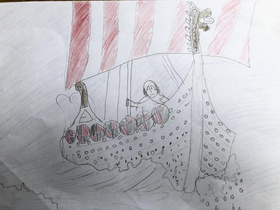 Georgia's Viking Ship Drawing