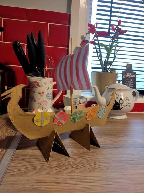 Summer's Viking Longboat