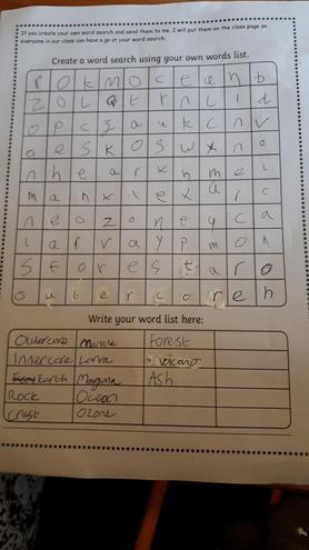 An Earth word search by Kody