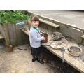Our mud kitchen