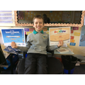 Jack's swimming certificates