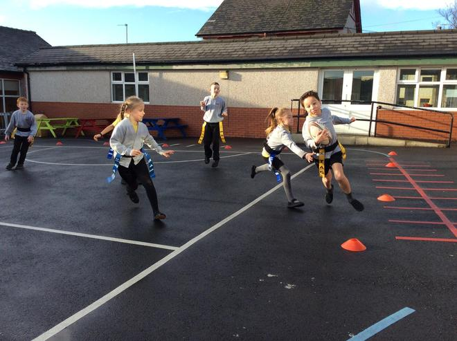 A fantastic, competitive game of Tag Rugby