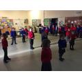 Year 1s practising - STOP!