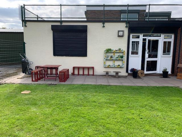 Garden Area - Communal area for pupils and staff to sit and enjoy during breaks.