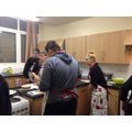 Year 10 Pupils using the new Food room