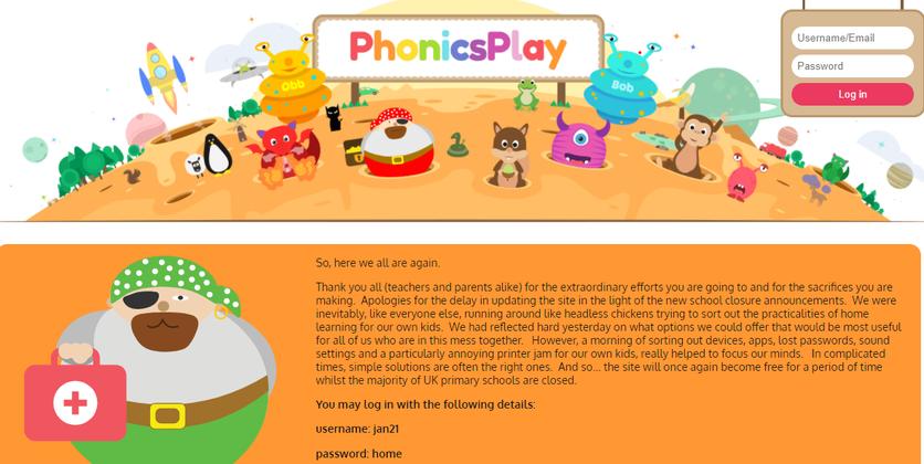 Free phonics play link