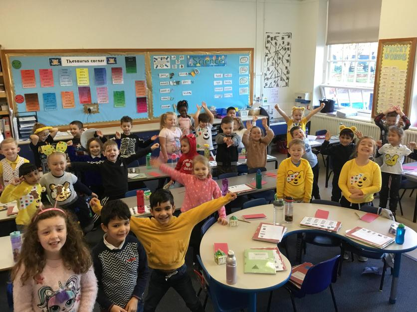 We dressed up to celebrate Pudsey Day!