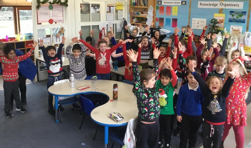 Look at our festive jumpers!