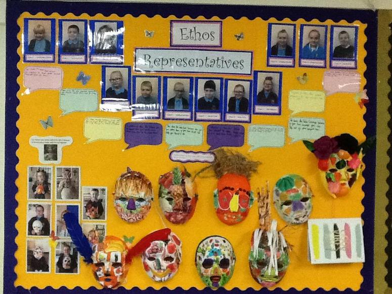 We have a display board to show what we are doing