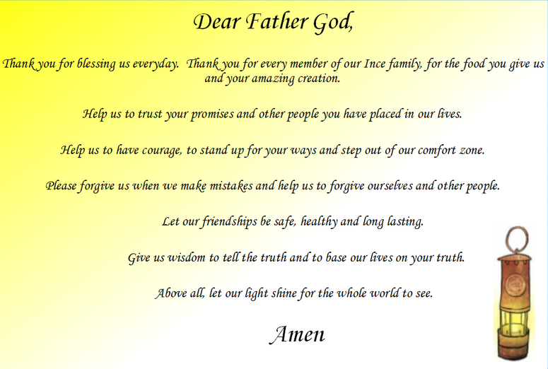 The Ethos Group wrote our school prayer
