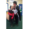 Mrs. Haselden with pupil - World Book Day