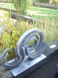 We found interesting sculptures around the gardens