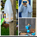 You made a great bird feeder to attract the birds