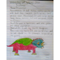 A brilliant, colourful dinosaur and interesting facts