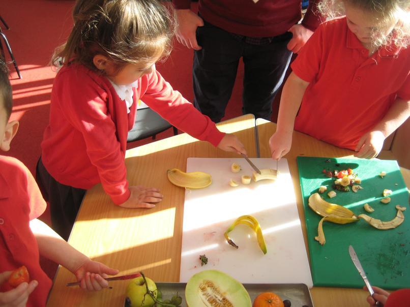 making healthy fruit snacks