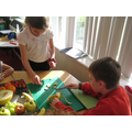 Preparing healthy fruit snacks