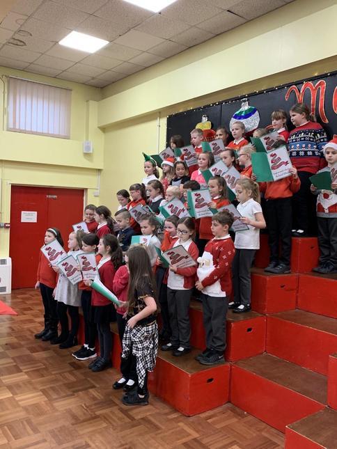 School choir at the Christmas Fair