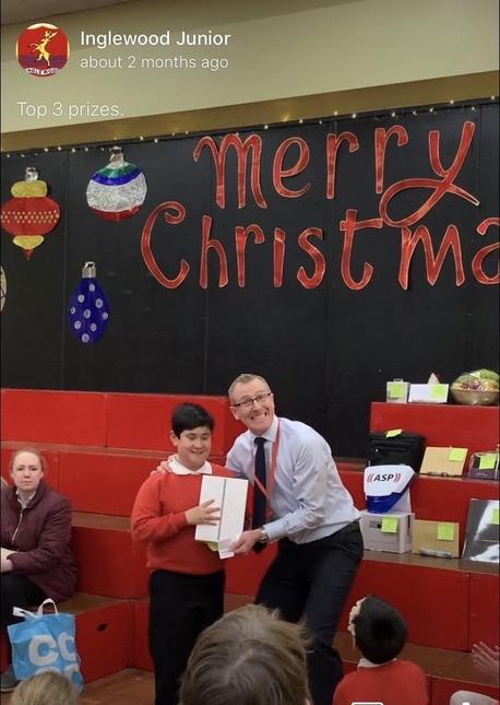 Christmas Raffle winner
