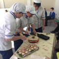 Some members of the catering team