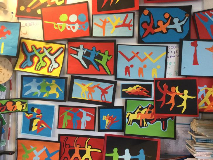 Movement, colour and shape studies for the Olympics
