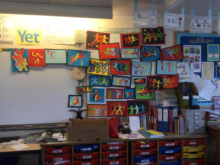 Finished art work after a busy day!