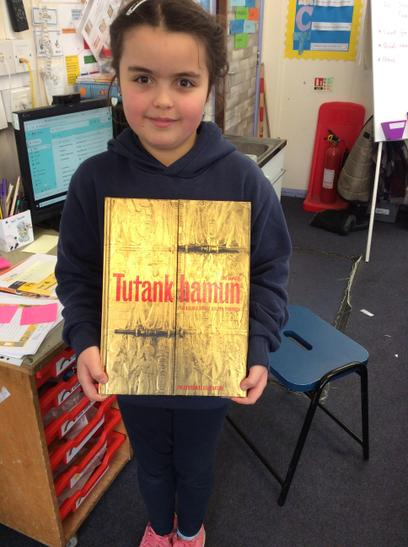 Bella shared this lovely book with us, all about Tutankhamun. Thank you Bella.
