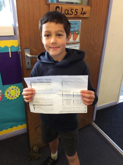 Isaac managed to complete this maths challenge at home. Well done Isaac!