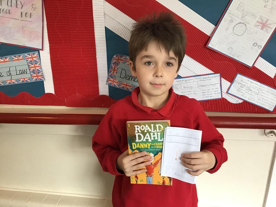 We made our own Roald Dahl inpsired books!