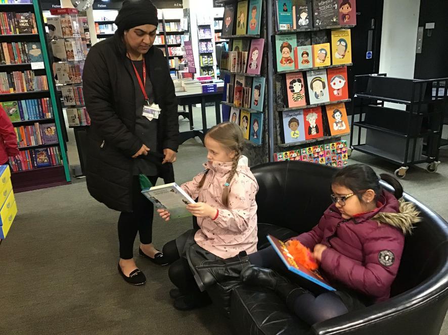 We went to Waterstones book shop in Preston.