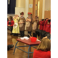 We dressed up as characters from the story.