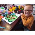 Jack has been creative with playdough.