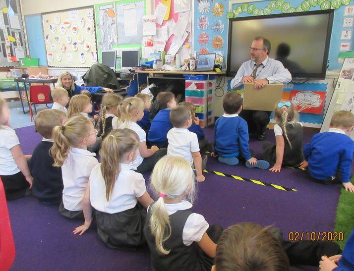 We told Mr Fieldwick about the evidence and he brought our dinosaurs back from the Police!
