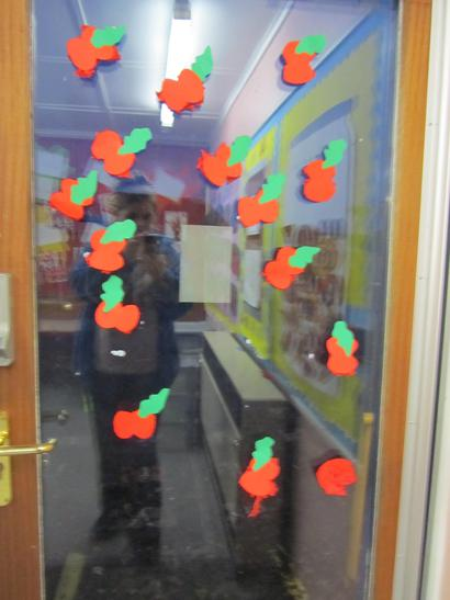 We created poppies to display