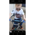 Jack has learnt to ride his bike. Jolly well done.