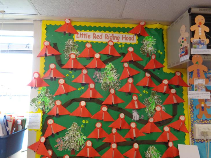 Little Red Riding Hood writing display.