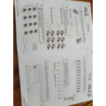 Blake has been completing a maths workbook.
