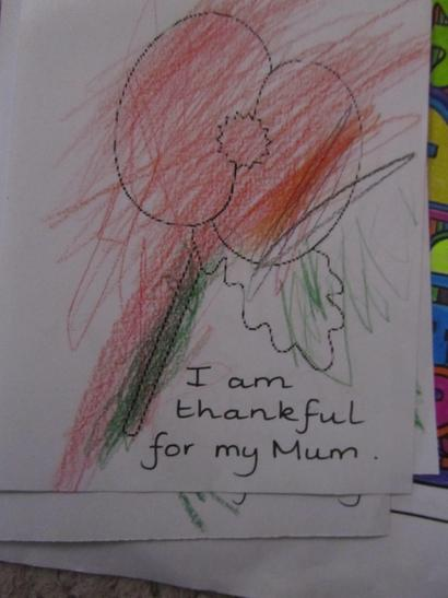 We reflected upon what we are thankful for